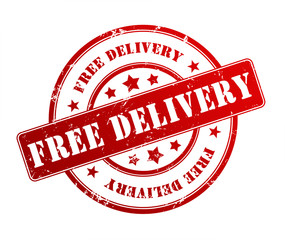 free delivery rubber stamp illustration