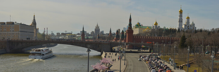 View of the Kremlin from the embankment