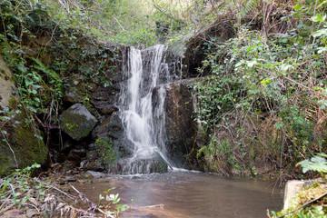 Small secret waterfall in Garfagnana, Italy.