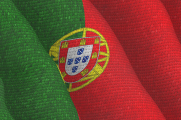 Illustraion of a flying Portugal Flag