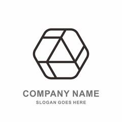 Geometric Triangle Hexagon Cube Space Box Architecture Interior Construction Business Company Stock Vector Logo Design Template