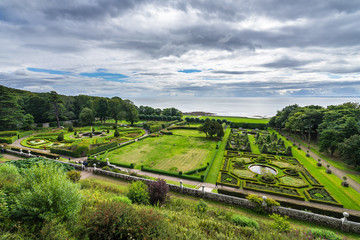 Gardens of Dunrobin Castle, Sutherland, Scotland, Britain