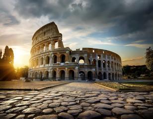 Poster de jardin Rome Colosseum in Rome at sunset
