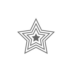 Star Icon. Simple element illustration. Star symbol design template. Can be used for web and mobile