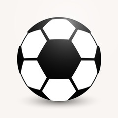 Soccer ball flat icon illustration on a gray background.