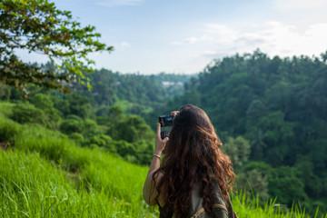 Back of girl at the Campuhan Ridge Walk in Ubud, Bali