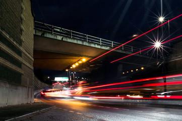 Long exposure light trail photography London