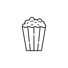 popcorn icon. Element of eating for mobile concept and web apps. Thin line  icon for website design and development, app development. Premium icon