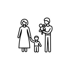 full-fledged family icon. Element of family for mobile concept and web apps. Thin line  icon for website design and development, app development. Premium icon