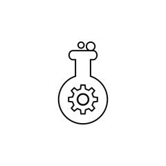nano particles in a test tube icon. Element of nano technology icon. Premium quality graphic design icon. Signs and symbols collection icon for websites, web design, mobile app