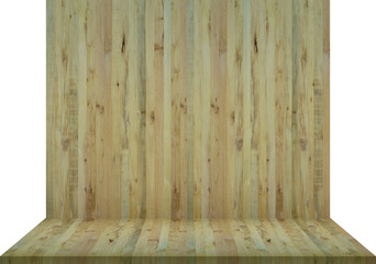 Wood background texture floor with wall wooden blank for design, clipping path