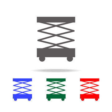 Scissors lift icon. Elements of construction tools multi colored icons. Premium quality graphic design icon. Simple icon for websites, web design, mobile app, info graphics