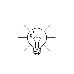 light bulb and lighting icon. Element of idea and solutions for mobile concept and web apps. Thin line  icon for website design and development, app development. Premium icon