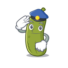 Police pickle character cartoon style