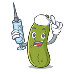Nurse pickle character cartoon style