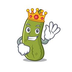 King pickle mascot cartoon style