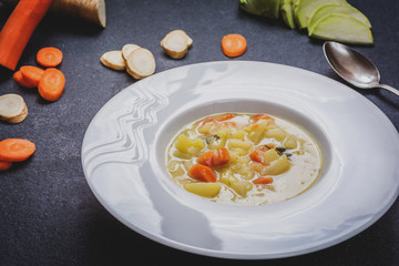 Hmemade vegetables soup
