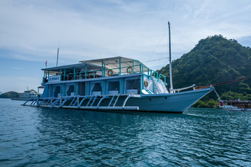 A boat at the coast of Labuan Bajo