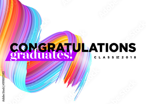 Congratulations graduates class of 2018 vector logo creative party congratulations graduates class of 2018 vector logo creative party invitation banner poster stopboris Images
