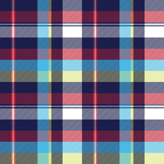 Blue check seamless pattern fabric textile