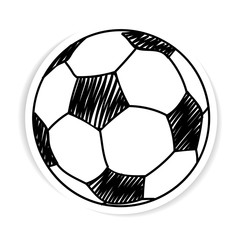 stickers of football ball isolated illustration on white backgroun
