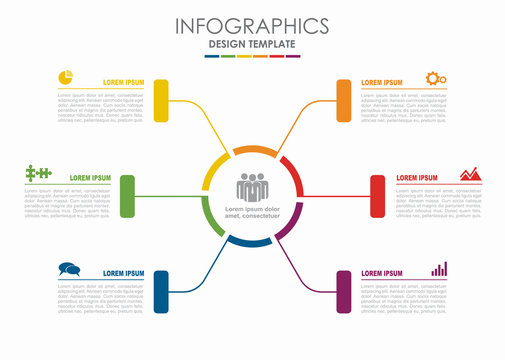 Infographic template. Vector illustration. Can be used for workflow layout, diagram, business step options, banner.