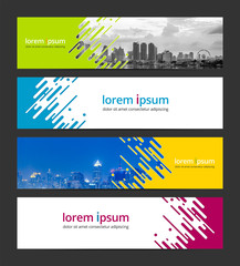 Abstract background banner design template. Corporate business web banner advertising set. Infographic design elements. Sample image with Gradient Mesh EPS10.