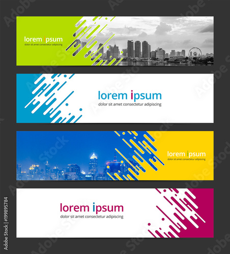 abstract background banner design template corporate business web banner advertising set infographic design elements