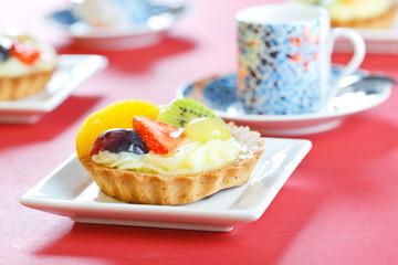 Delicious fruit tarts