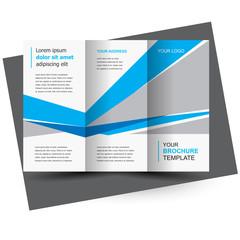 Brochure design template, creative tri-fold, trend brochure polygons