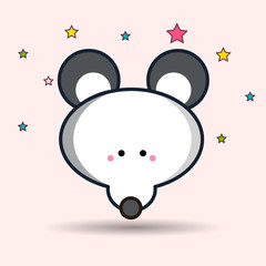 Vector image of a mouse design on a white background. Vector, illustration eps10