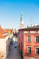 Wall Mural - street leading the central market square in Poznan, PolandPoznan, Poland