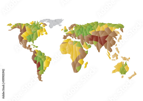 Trendy vector low polygons world map isolated on white background trendy vector low polygons world map isolated on white background color vector europe asia gumiabroncs Choice Image