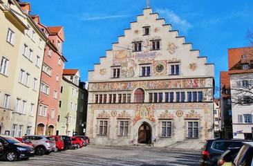 Lindau, Altes Rathaus, Bemalte Südfassade