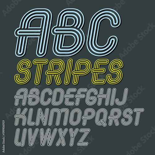 Set of trendy modern vector capital alphabet letters isolated  Disco