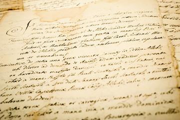 old vintage manuscript