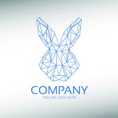 Professional Modern Geometric Bunny Rabbit Logo Design