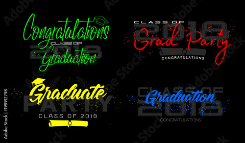 set graduation label vector text for graduation design