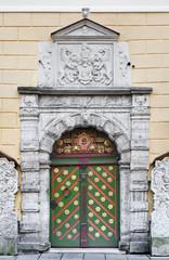 Door of the Brotherhood of Blackheads in Tallinn