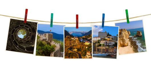 Portugal travel images (my photos) on clothespins