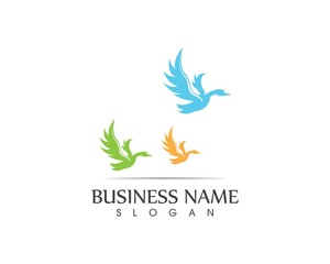Swan logo design vector illustration