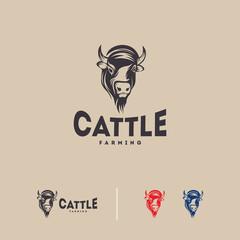 Cattle farm logo badge, cow farm logo badge, beef fresh logo badge vector