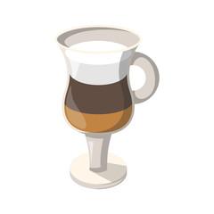Vector cartoon coffee cocktail icon