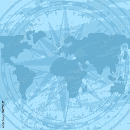Grunge background with compass rose and world map geography grunge background with compass rose and world map geography research worldwide traveling and nature gumiabroncs Choice Image