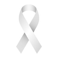 Gray and silver support ribbon for awareness campaigns and charity like world parkingson day.