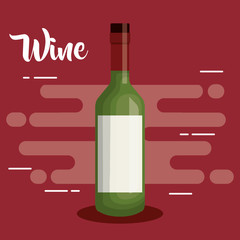 wine bottle drink icon vector illustration design