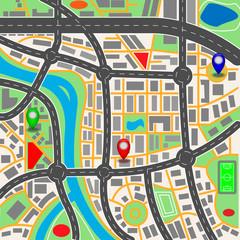 City  map.Vektor illustration.