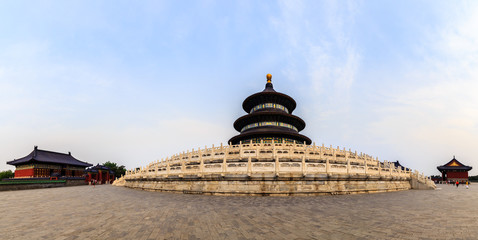 Temple of heaven museum complex panorama, Beijing, China