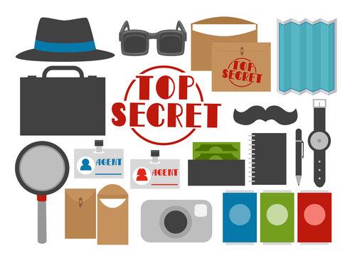 Secret Agent Elements Illustration