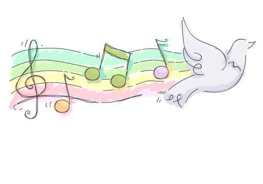 Dove Worship Song Illustration